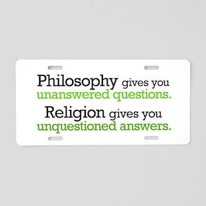 Philosophy & Religion Aluminum License Plate