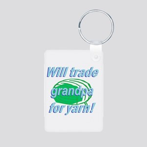 Trade Grandpa Aluminum Photo Keychain