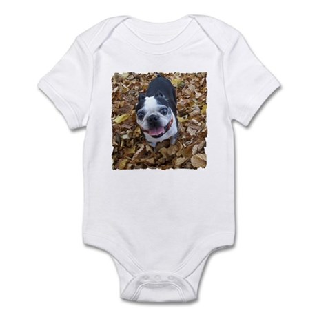 BOSTON TERRIER LEAVES Infant Bodysuit