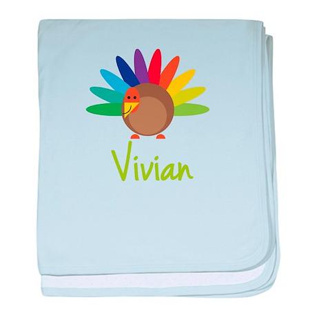 Vivian the Turkey baby blanket