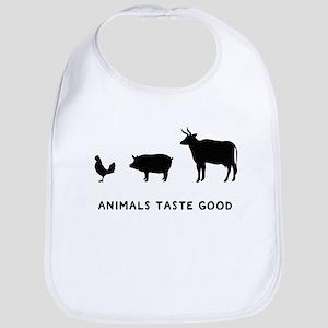 Animals Taste Good Bib