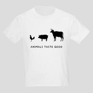 Animals Taste Good Kids Light T-Shirt