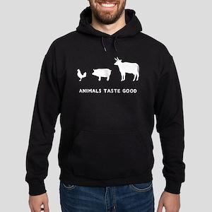 Animals Taste Good Hoodie (dark)