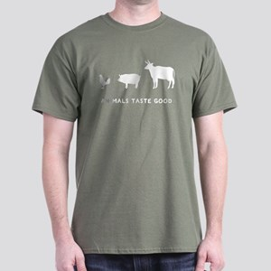 Animals Taste Good Dark T-Shirt