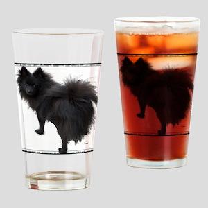 Black Pomeranian Drinking Glass