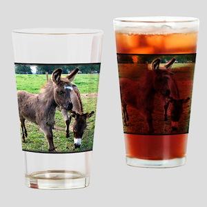 Baby Mini Donkey & Mom Drinking Glass