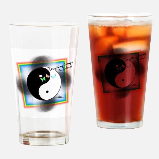 Yin Yang Change Drinking Glass