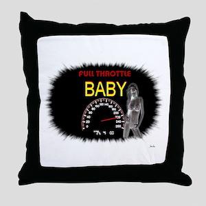 Jmcks Full Throttle Baby Throw Pillow