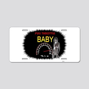 Jmcks Full Throttle Baby Aluminum License Plate
