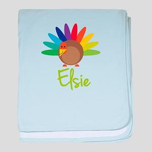 Elsie the Turkey baby blanket