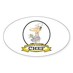 WORLDS GREATEST CHEF Sticker (Oval)