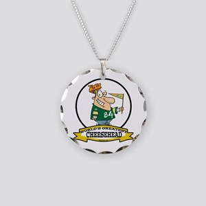 WORLDS GREATEST CHEESEHEAD Necklace Circle Charm