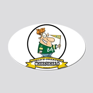 WORLDS GREATEST CHEESEHEAD 22x14 Oval Wall Peel