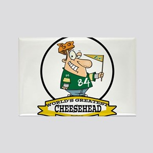 WORLDS GREATEST CHEESEHEAD Rectangle Magnet