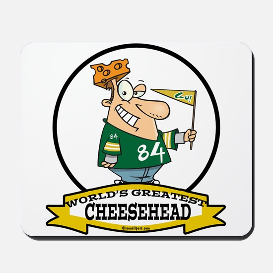 WORLDS GREATEST CHEESEHEAD Mousepad