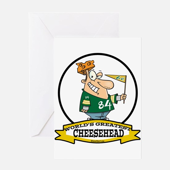 WORLDS GREATEST CHEESEHEAD Greeting Card