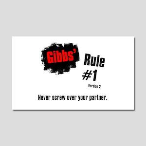 NCIS Gibbs' Rule #1 Car Magnet 20 x 12
