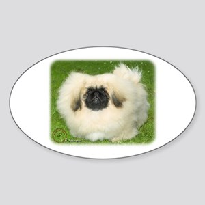 Pekingese 9W010D-064 Sticker (Oval)