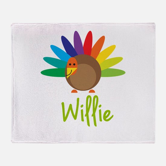 Willie the Turkey Throw Blanket