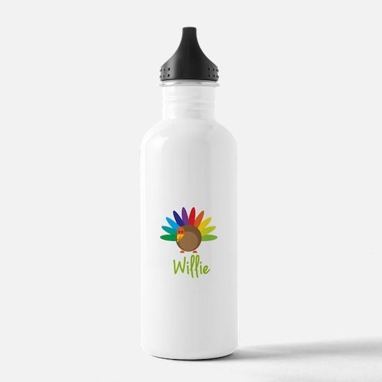 Willie the Turkey Sports Water Bottle