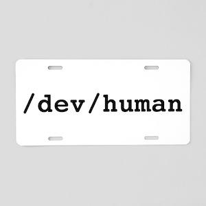 /dev/human Aluminum License Plate