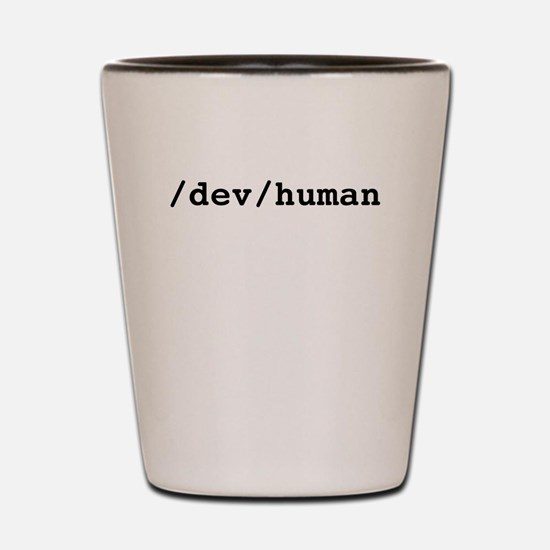 /dev/human Shot Glass