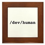/dev/human Framed Tile