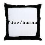 /dev/human Throw Pillow