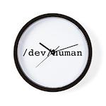 /dev/human Wall Clock