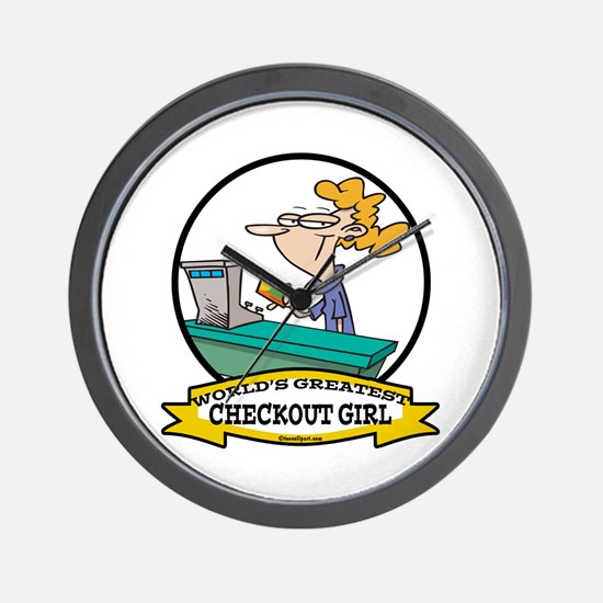 WORLDS GREATEST CHECKOUT GIRL Wall Clock