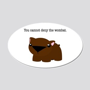 Wombat 20x12 Oval Wall Decal