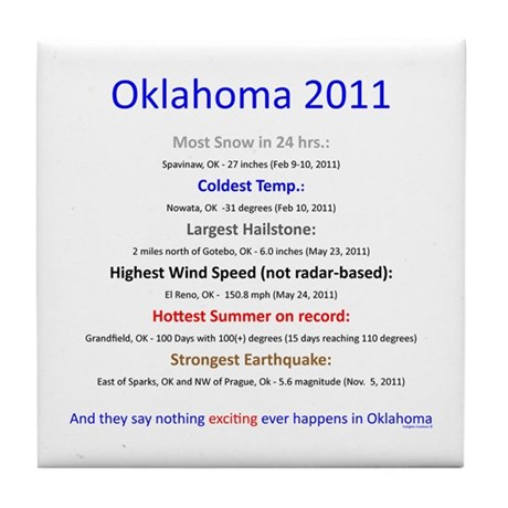 Nothing Happens in Oklahoma Tile Coaster