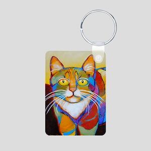 Cat-of-Many-Colors Aluminum Photo Keychain