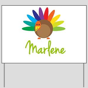 Marlene the Turkey Yard Sign