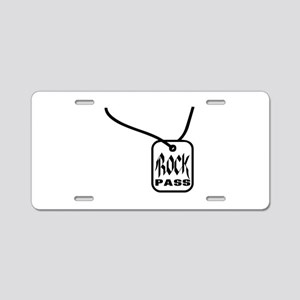 Rock Pass Aluminum License Plate