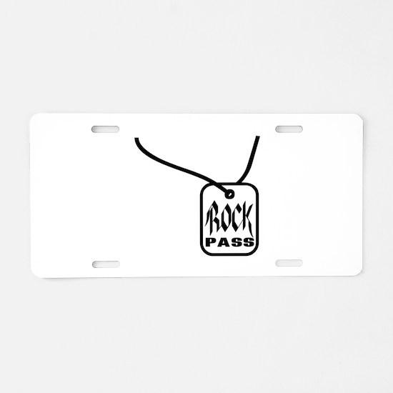 Rock Pass Aluminum License Plate