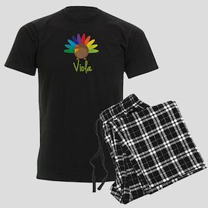 Viola the Turkey Men's Dark Pajamas