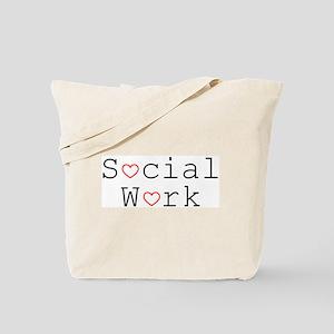 Social Work Hearts Tote Bag