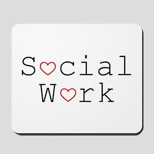 Social Work Hearts Mousepad