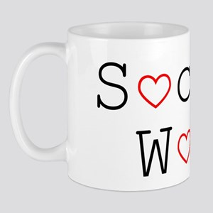 Social Work Hearts Small Mug