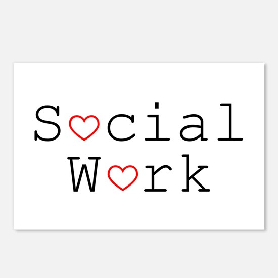 Social Work Hearts Postcards (Pack of 8)