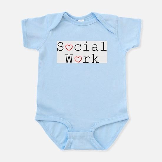 Social Work Hearts Infant Bodysuit