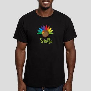 Stella the Turkey Men's Fitted T-Shirt (dark)
