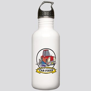 WORLDS GREATEST CAR FIXER CARTOON Stainless Water