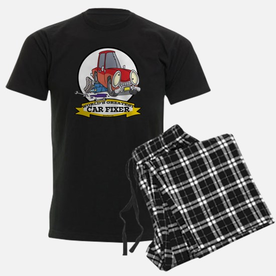 WORLDS GREATEST CAR FIXER CARTOON Pajamas