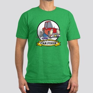 WORLDS GREATEST CAR FIXER CARTOON Men's Fitted T-S