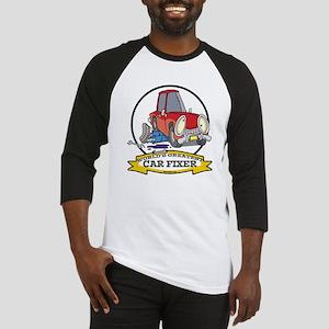 WORLDS GREATEST CAR FIXER CARTOON Baseball Jersey