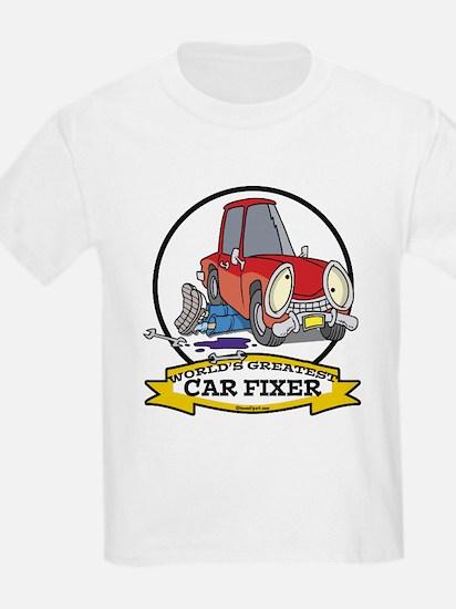 WORLDS GREATEST CAR FIXER CARTOON T-Shirt