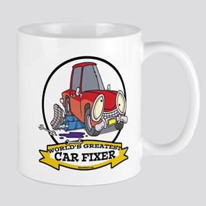 WORLDS GREATEST CAR FIXER CARTOON Mug