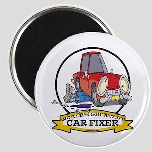 WORLDS GREATEST CAR FIXER CARTOON Magnet